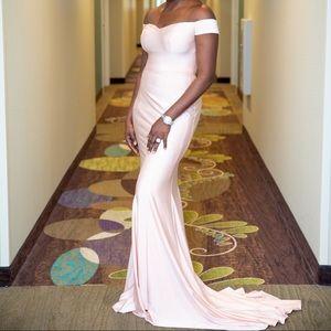 Blush mermaid evening Gown